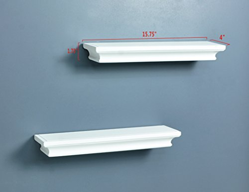 Ahdecor Floating Wall Shelves Ledge Shelf White Set Of 2