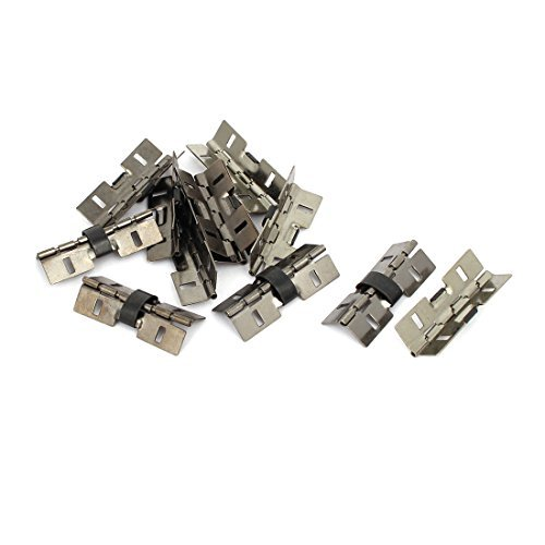 DealMux Jewelry Gift Wooden Box 31mm Length Spring Hinges Black 12PCS