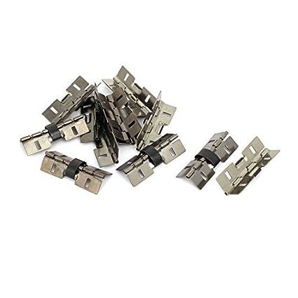 Regalo de la joyería eDealMax caja de madera de 31 mm Longitud de las bisagras del resorte Negro 12PCS - - Amazon.com