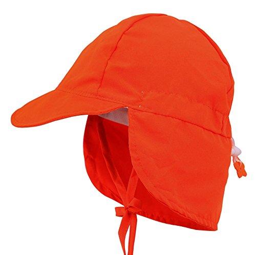 Cape Christmas Ornament - Livingston UPF 50+ UV Ray Sun Protection Girls Hat w/Neck Flap & Drawstring,Ora