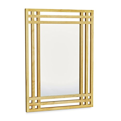 relaxdays 10020483 miroir en bois de pin fixation murale salle de bain couloir ebay. Black Bedroom Furniture Sets. Home Design Ideas