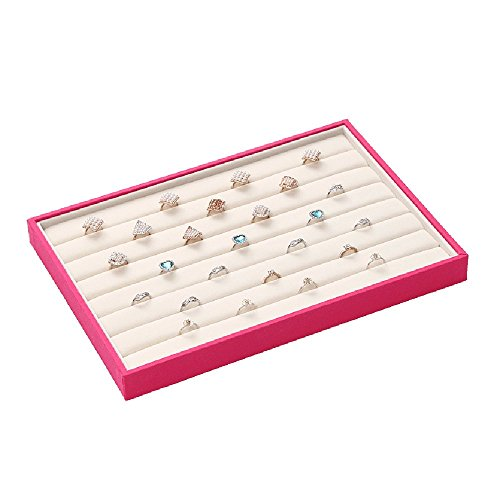 BOCAR Colorful Jewelry Rose Display Showcase Organizer Holder for Ring Earring (CP-rose-JZ) (Jz Rose)