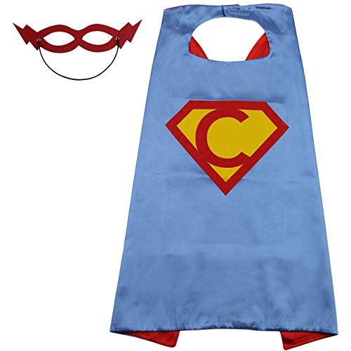 SZD Kids Superhero Costume Boy Girl Superhero Superman Cape Toddler Birthday Gift Blue -