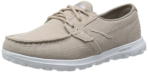 Skechers Performance Womens On-The-Go Mist Boat Shoe,Taupe Mist,7 M US (Best Deals On Skechers Shoes)