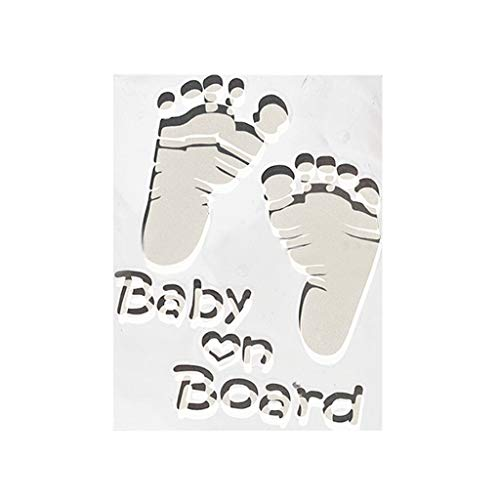 Dowager Baby on Board Sticker - Funny Safety Caution Decal Sign from The Hangover for Cars Windows and Bumpers (White) from Dowager_Wall Decor