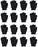 WEWINK PLUS Kid's Gloves 16 Pairs Winter Magic Gloves Stretchy Full Finger Boys or Girls Knit Gloves