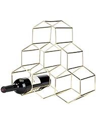 shop amazon freestanding wine racks Undercounter Wine Beverage Fridges viski 5213 belmont geo rack freestanding wine racks cabinets 1 ea gold