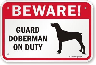 Amazon.com: Cuidado. Guardia Doberman de servicio (con ...