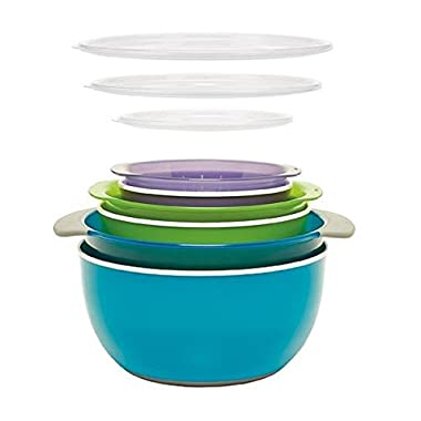 9-piece Oxo® Nesting Bowls and Colanders and Lids Set