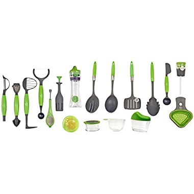Jokari Healthy Steps 18 Piece Portion Control/Weight Loss Utensil Set, Multicolor