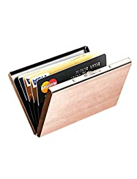 Best RFID Blocking Credit Card Holder, MaxGearTM Stainless Steel Card Holder Case for Travel and Work, Steel Metal Slim Wallet, Credit Card Case for Business Cards, Credit Cards, and Driver License
