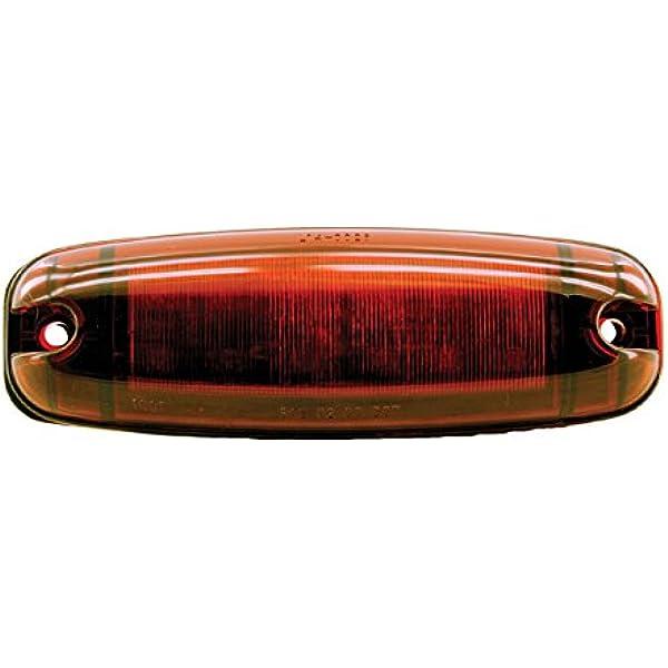 """2-Diode LED Red Lens//Red Dragons Eye Marker Light Kaper II 2-5//8/"""" X 1-1//2/"""" 1"""