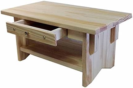 Personal Altar Table w Display Shelf Unfinished Pine 20 11 10 Tall EarthBench Pine 10 w Drawer