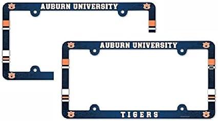 New NCAA Auburn Tigers Plastic Chrome License Plate Frame Screw Caps