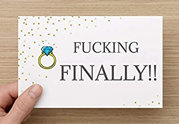 Amazon Com Funny Wedding Card Fucking Finally