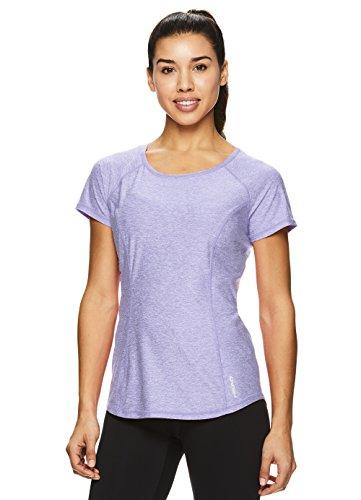 HEAD Women's Prime Short Sleeve Workout T Shirt - Performance Scoop Neck Activewear Top - Sweet Lavender Heather Prime, Medium
