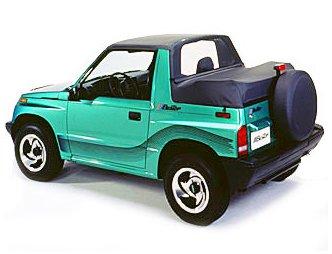 Bestop 80062-15 Black Denim Windjammer Wind Break for 1995-1998 Suzuki Sidekick/Geo Tracker