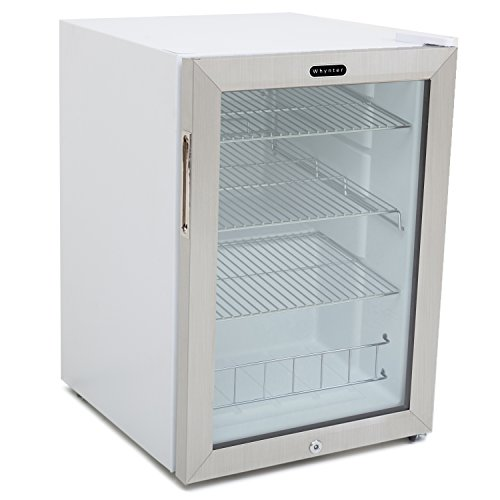 Whynter BR-091WS Beverage Refrigerator with Lock, 90 Can Capacity, Stainless Steel (Cooler Drink Retail)