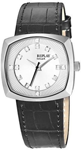 Replay RW5401AU - Reloj para Mujeres, Correa de Cuero Color Negro ...