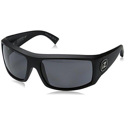VonZipper Clutch Mens Polarized Sunglasses, Black Satin/Grey Poly