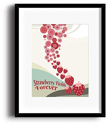 (Strawberry Fields - Beatles - Song Lyrics Music Decor Print - Matted and Framed Options)