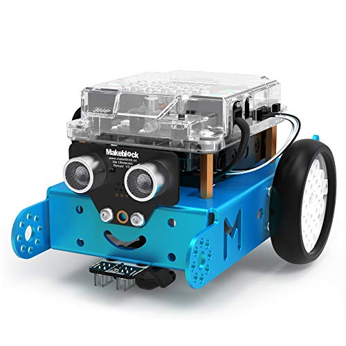 Makeblock mBot Robot Kit, DIY Mechanical Building Blocks, Entry-level Programming Helps Improve Children' s Logical Thinking and Creativity Skills, STEM Education. (Blue, Bluetooth Version, Family) -