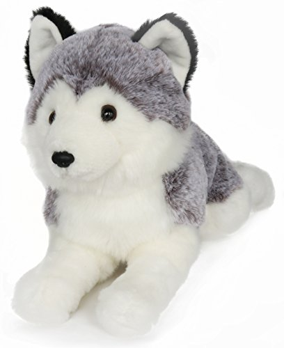 Alive Husky (Ice King Bear Lifelike Siberian Husky Stuffed Animal - Dog Plush Toy - 16 Inches Length)