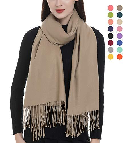Women's Large Soft Blanket Pashmina Scarf Solid Color Long Warm Shawls Wraps