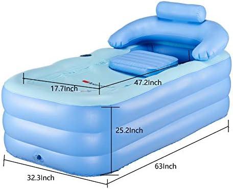 Inflatable Adult PVC Warm Bath Bathtub Foldable Indoor SPA Bathroom Tub