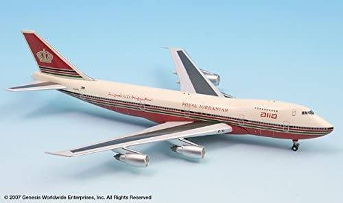 InFlight500 ALIA Royal Jordanian Airlines Red Tail Livery 1983 Boeing 747-200 1:500 Scale REGJY-AFA Diecast Display Model