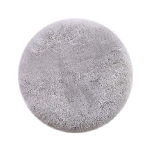 Area Rugs Aussie Pure Wool mats Thickened Chair Stool Round Cushion mats Soft Cute Short Wool Round Sofa Cushions (Color : White, Size : 45cm) ()