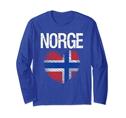 Unisex I Heart Flag of Norway T-Shirt Norge Vintage Flag Shirt Men Medium Royal - Norway Store
