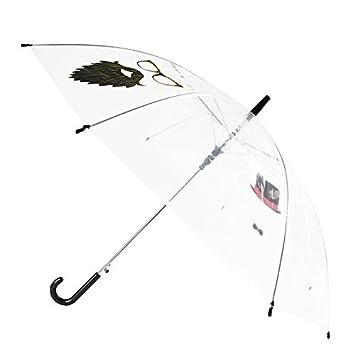 Kamiustore - Paraguas de selfie para adultos, transparente, con dibujo de cabina de fotos