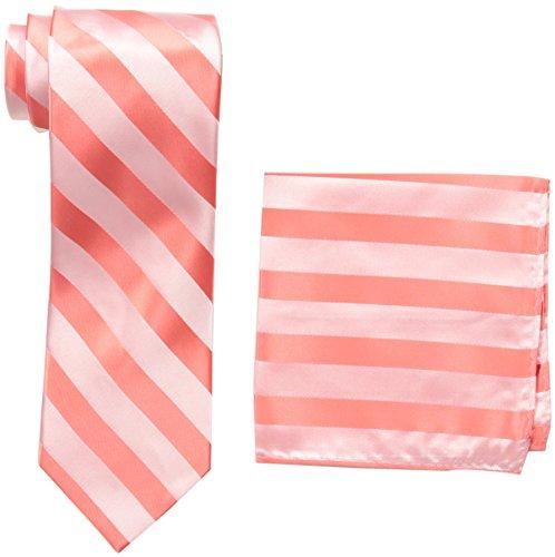 Stacy Adams Mens Extra Long Formal Stripe Tie Set