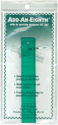 CM Designs 8CMD Add-An-Eighth Ruler, 6-Inch, Green