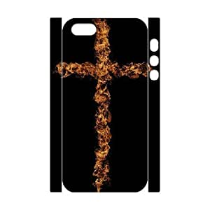 Customized Phone Case with Hard Shell Protection for Iphone 5,5S 3D case with Cross lxa#868044