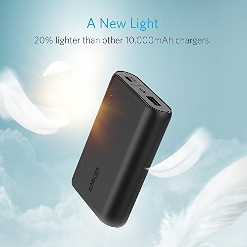 Anker PowerCore 10000 One of the Smallest and Lightest 10000mAh External electrica especially smal great speed Charging technologica power Bank for iPhone Samsung Galaxy and much more Black Popular selections