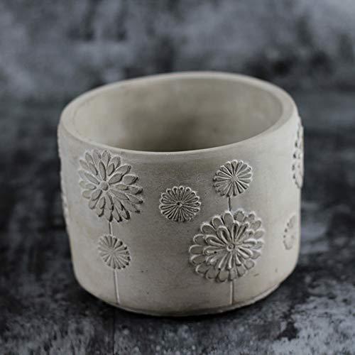 Nicole Cement Flowerpot Silicone Mold Pen Barrel Desktop Decoration Tool by nicole (Image #4)