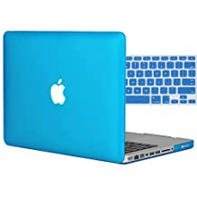 """Easygoby 2in1 Matte Frosted Silky-Smooth Soft-Touch Hard Shell Case Cover for 13-Inch MacBook Pro 13.3"""" [Non-Retina] (Model: A1278)+ Keyboard Cover - Aqua Blue"""