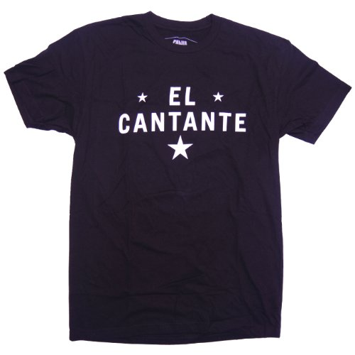 Fania Men's El Cantante T-Shirt Medium Black