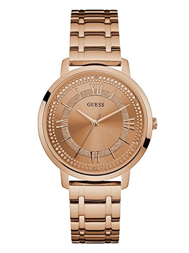 GUESS Women's Stainless Steel Glitz Casual Watch, Color: Rose Gold (Model: - Guess Rose Gold Watch