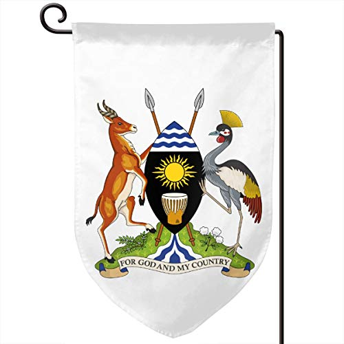 (X-JUSEN Coat of Arms of Former Eritrea National Emblem Welcome Garden Flag, Outdoor Yard Decor, Vertical Double Sided Holiday Themed Flags - 12.5 X 18 Inch, Decorative)