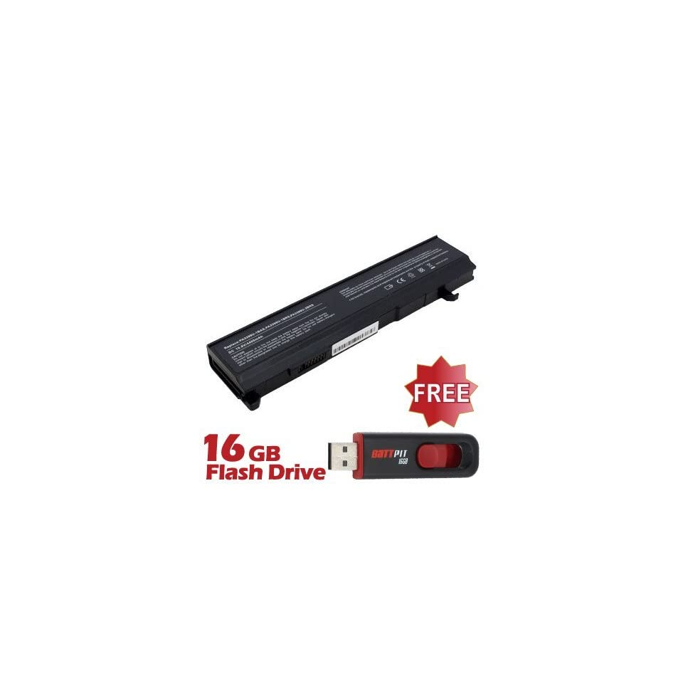 Battpit™ Laptop / Notebook Battery Replacement for Toshiba Satellite M115 S3094 (4400 mAh) with FREE 16GB Battpit™ USB Flash Drive