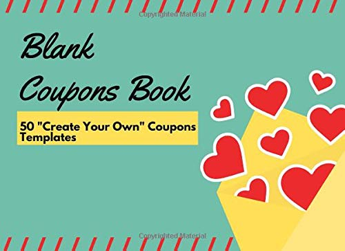 Pdf Parenting Blank Coupons Book (50 Create Your Own Coupons Templates): Blank Vouchers and Tokens| Stylish Beautiful Frame Designs On Each Page | 'I Owe You' Or Rewards Booklet