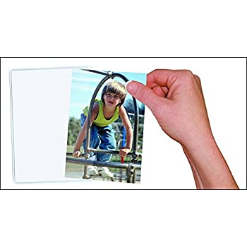 10 Pack Magnetic Photo Picture Frames - White Magnetic Photo Pockets - Holds 4x6 Photos