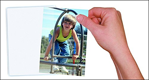 10 Pack Magnetic Photo Picture Frames - White Magnetic Photo Pockets - Holds 4x6 Photos - Flexible Magnetic Photo Pockets