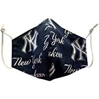 Handmade filter pocket NY YANKEES licensed fabric mask, Washable and reusable mask with nose wire and insert