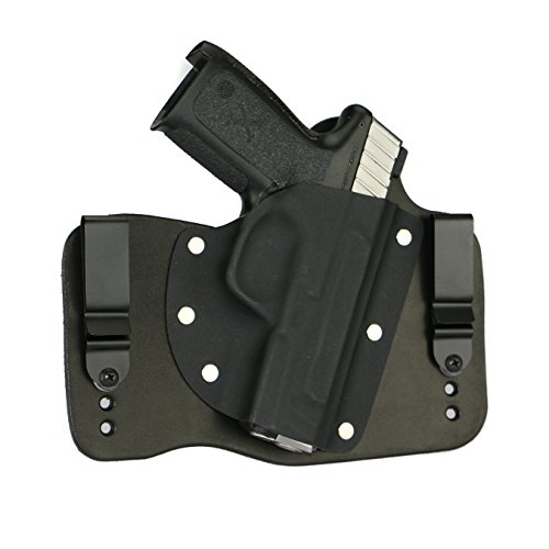 FoxX Holsters Smith & Wesson SD9VE & SD40VE Inside The Waistband Hybrid Holster Tuckable, Concealed Carry Gun Holster (Black)