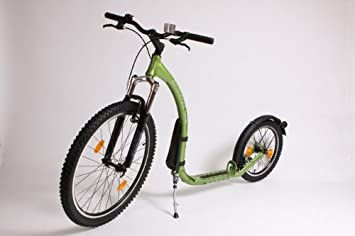Kickbike Cross MAX - Patinete, Color Verde metálico: Amazon ...
