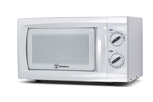 Westinghouse WCM660W 600 Watt Counter Top Rotary Microwave Oven, 0.6 Cubic Feet, White (Microwave Oven Small White compare prices)
